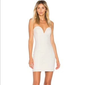 NBD AlessiaSweetheart Bodycon Dress in Ivory NWT